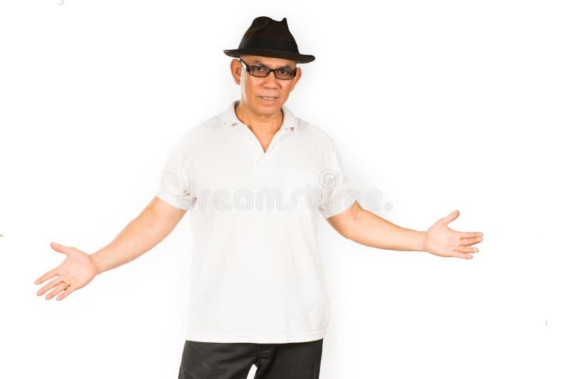Uomo a braccia aperte fotografia stock libera da diritti