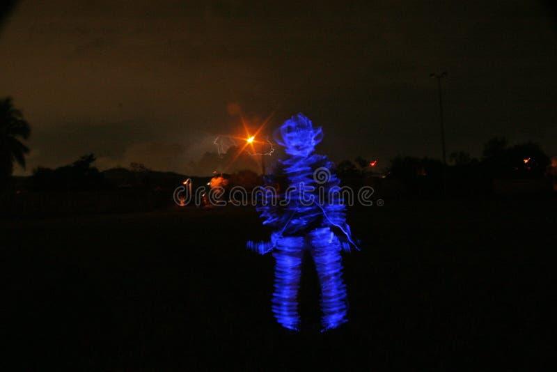 Uomo Burning immagine stock libera da diritti