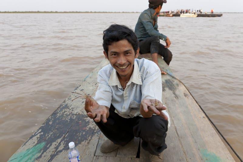Uomo cambogiano fotografia stock libera da diritti