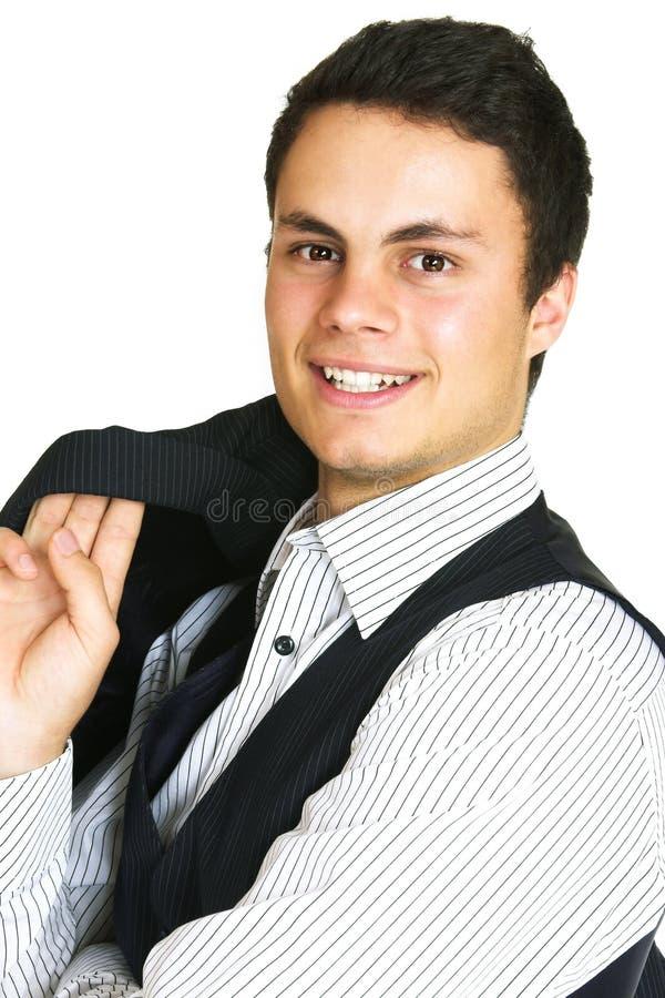 Uomo in camicia e maglia fotografie stock libere da diritti