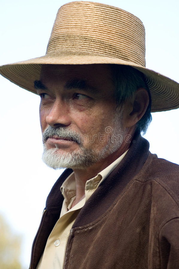 Uomo in cappello fotografia stock