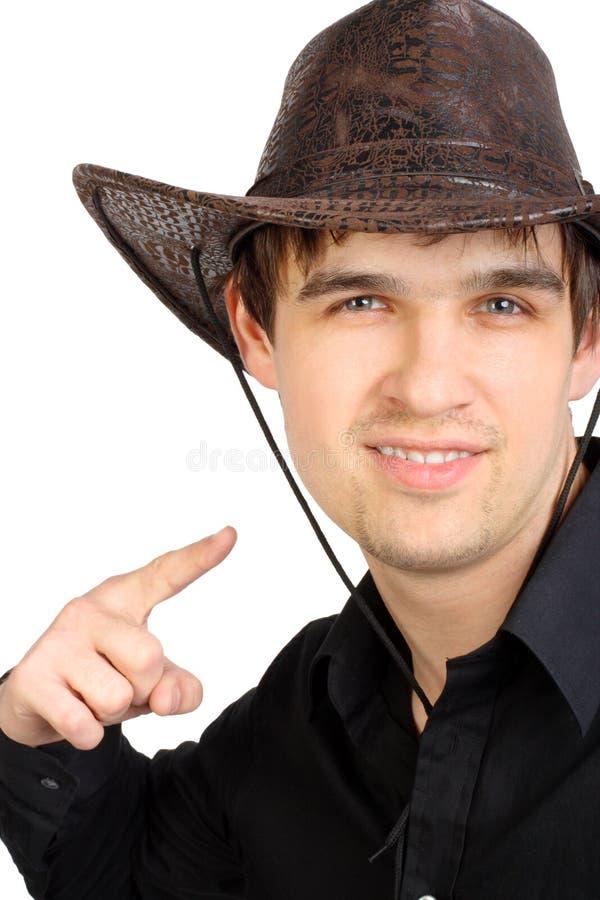 Uomo in cappello dello stetson fotografia stock libera da diritti