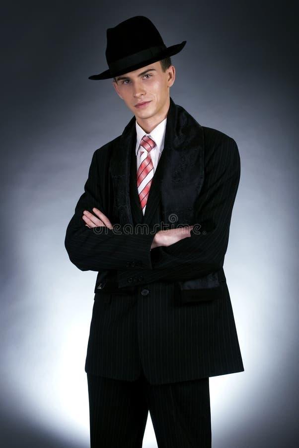 Uomo in cappello superiore immagini stock libere da diritti