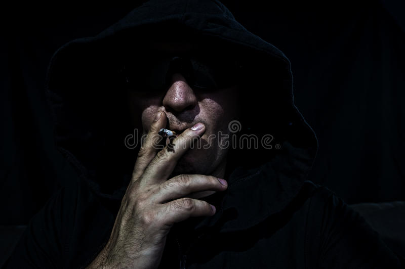Uomo In Cappuccio Fotografie Stock Libere da Diritti