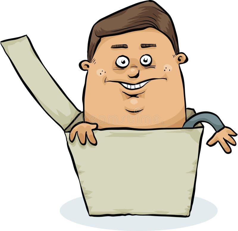Uomo in casella royalty illustrazione gratis