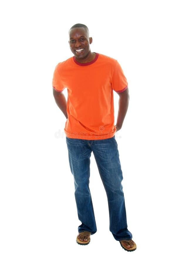 Uomo casuale in maglietta & in Jeans2 immagini stock