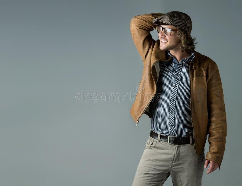 Uomo caucasico bello immagine stock