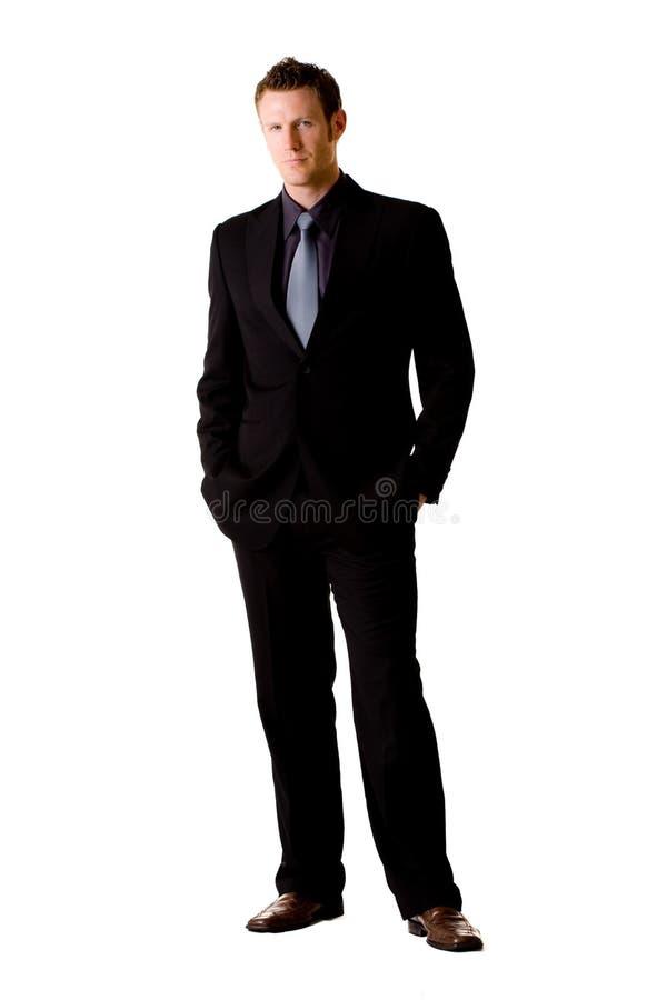 Uomo caucasico in vestito ed in legame fotografia stock libera da diritti