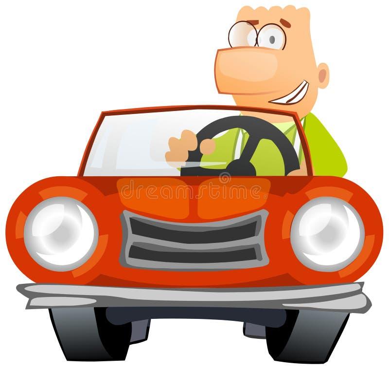 Uomo che conduce un'automobile illustrazione vettoriale