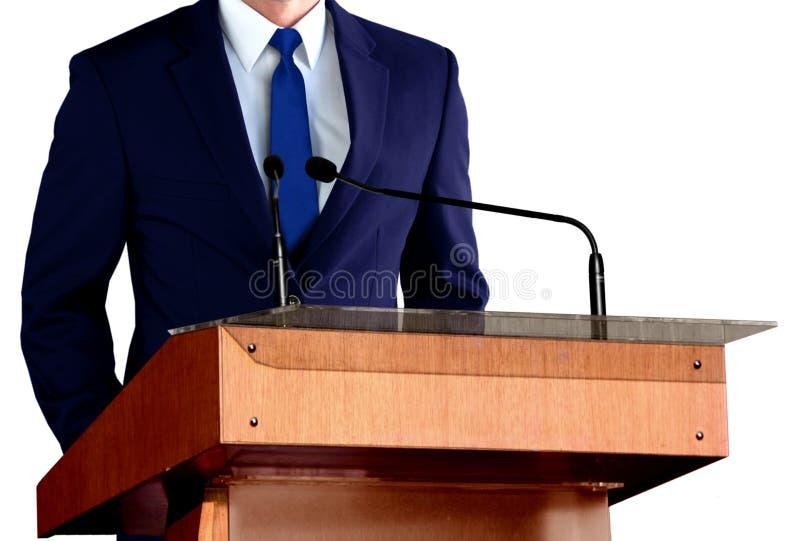 Uomo che dà discorso immagini stock libere da diritti