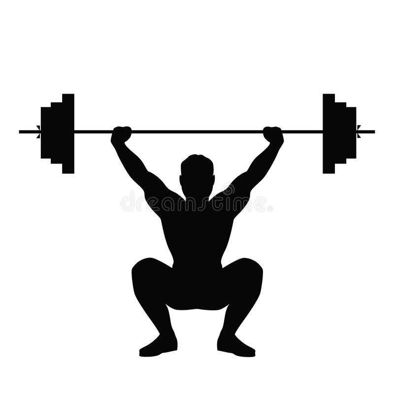 Uomo che fa sollevamento di peso illustrazione vettoriale