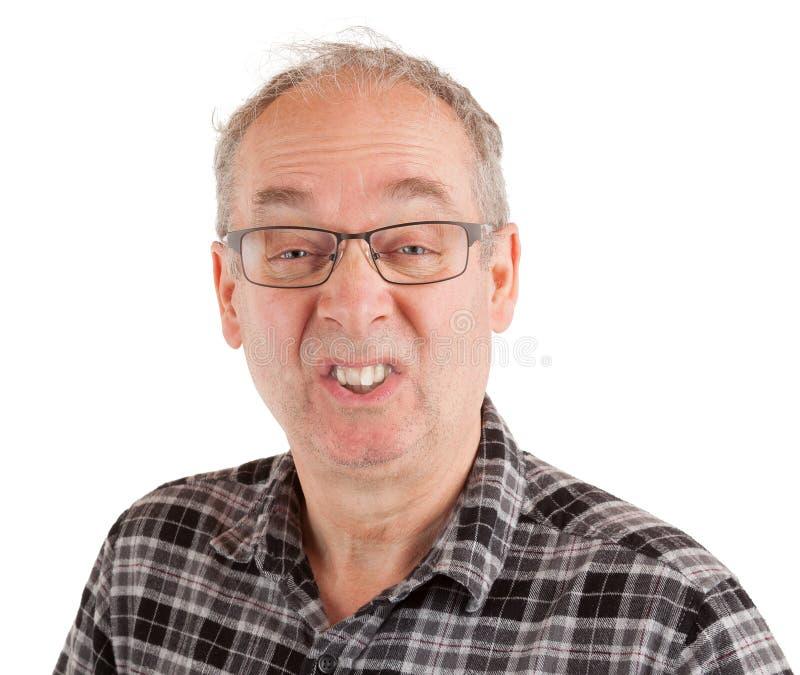 Uomo che fa uno scherzo fotografie stock libere da diritti