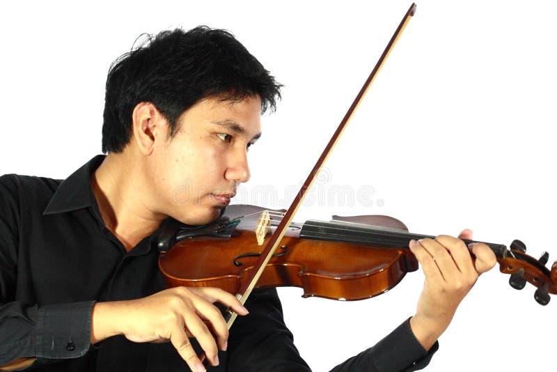Uomo che gioca violino immagini stock libere da diritti