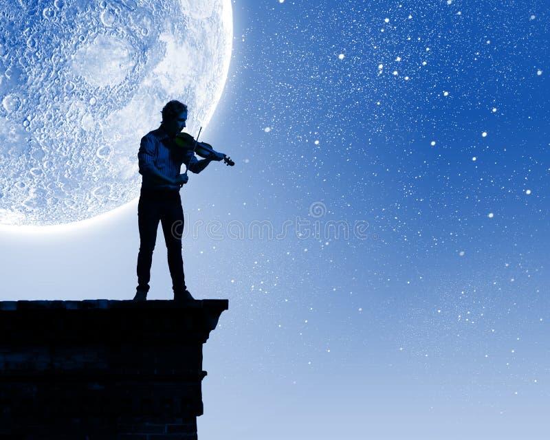 Uomo che gioca violino immagine stock