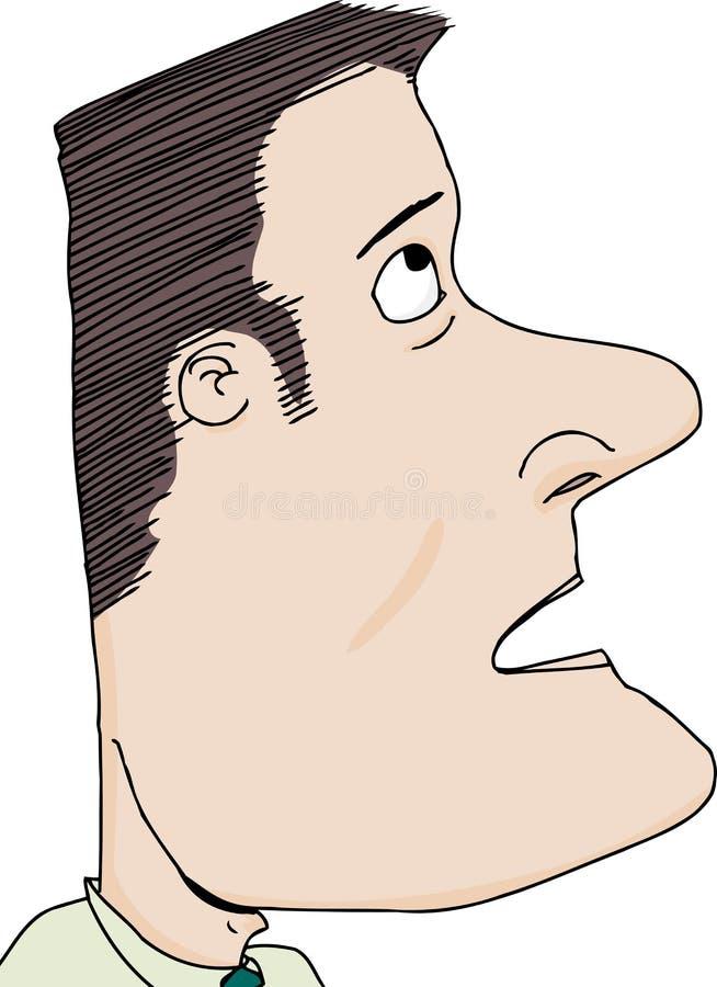 Uomo che guarda su illustrazione vettoriale