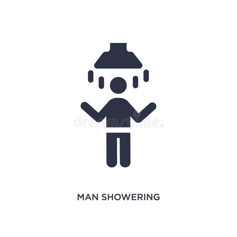 uomo che inonda icona su fondo bianco Illustrazione semplice dell'elemento dal concetto di comportamento royalty illustrazione gratis