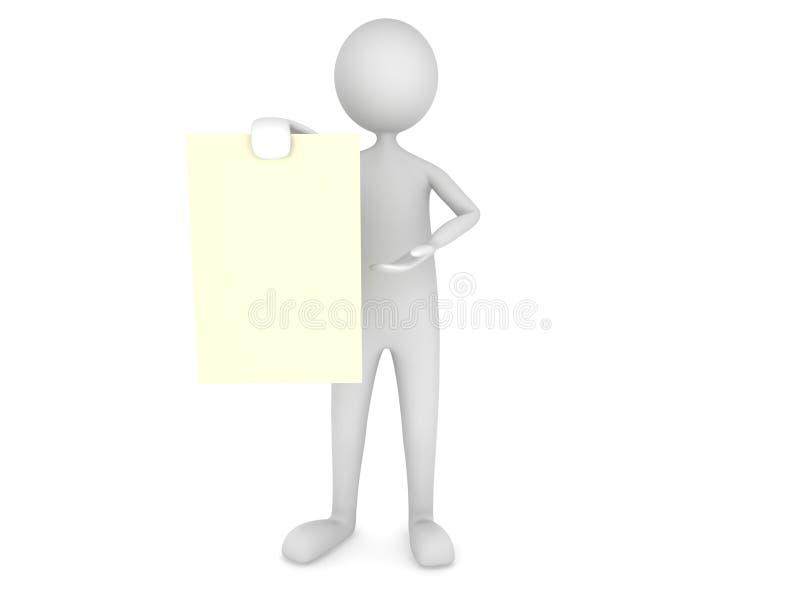 Uomo che mostra strato di carta royalty illustrazione gratis