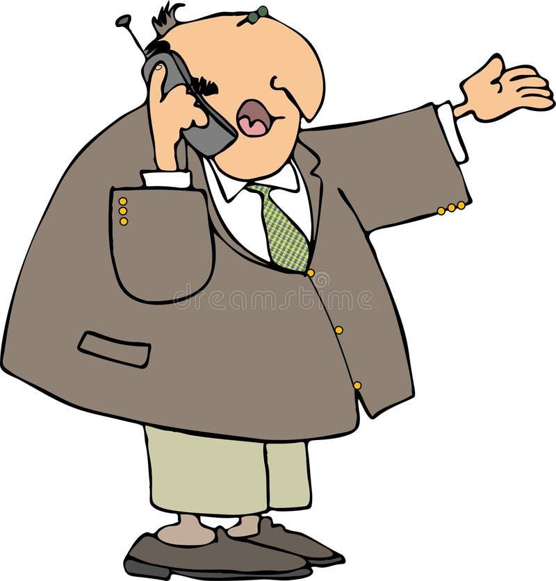 Uomo che per mezzo di un cellulare illustrazione vettoriale