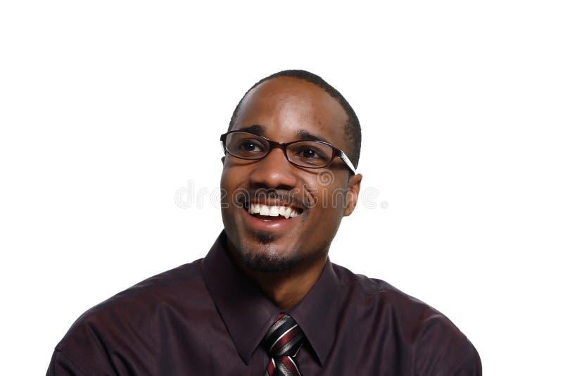 Uomo che sorride - orizzontale immagine stock