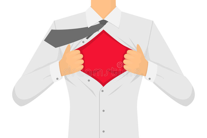 Uomo che strappa la camicia Vettore royalty illustrazione gratis