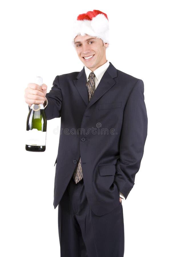 Uomo con Champagne fotografia stock libera da diritti