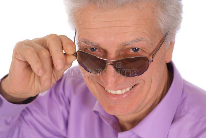 Uomo con gli occhiali da sole immagini stock