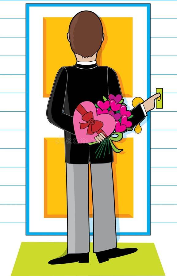 Download Uomo con i fiori illustrazione vettoriale. Illustrazione di umano - 3883439