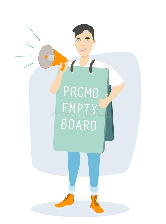 Uomo con il bordo di promozione royalty illustrazione gratis