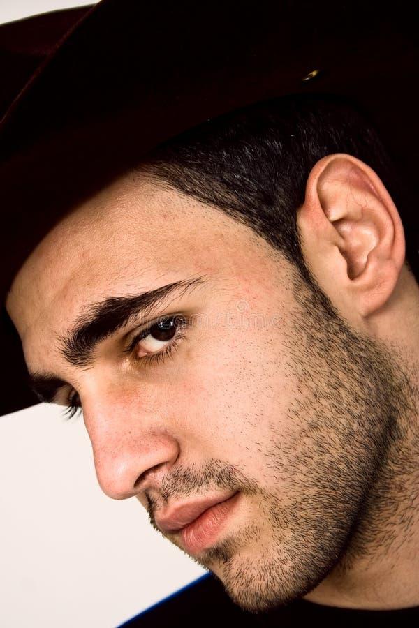 Uomo con il cappello fotografia stock
