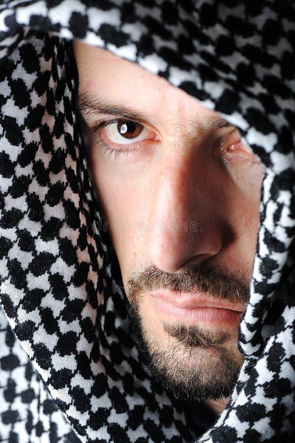 Uomo con il Palestinese arabo fotografie stock