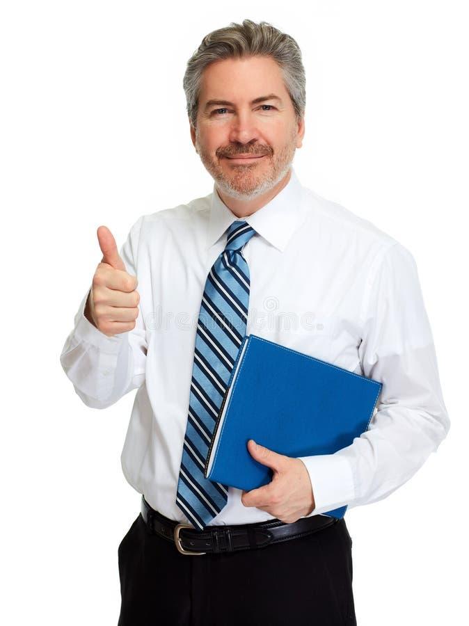 Uomo con il pollice fotografie stock