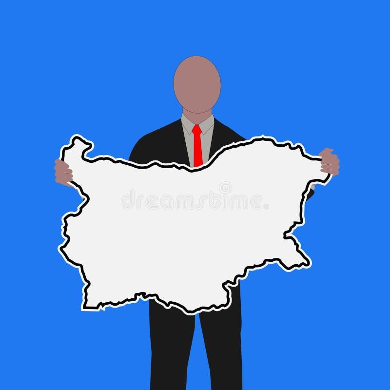 Download Uomo Con Il Segno Della Bulgaria Illustrazione Vettoriale - Illustrazione di businessman, rappresentante: 7308102