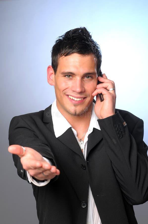 Uomo con il telefono fotografia stock libera da diritti