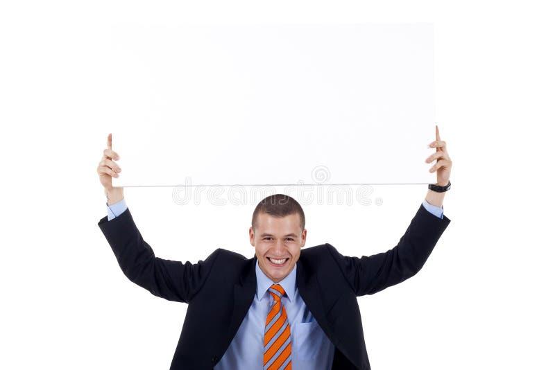 Uomo con la bandiera immagini stock