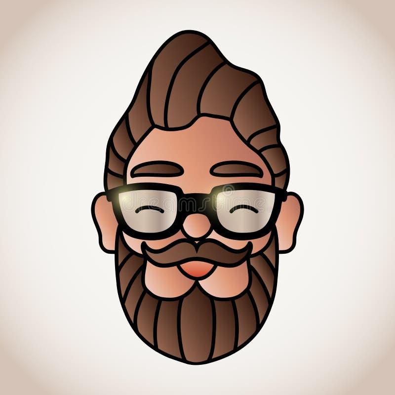 Uomo con la barba illustrazione di stock