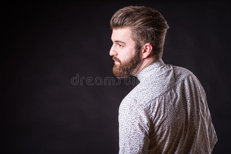 Uomo con la barba, ritratto di colore fotografia stock libera da diritti