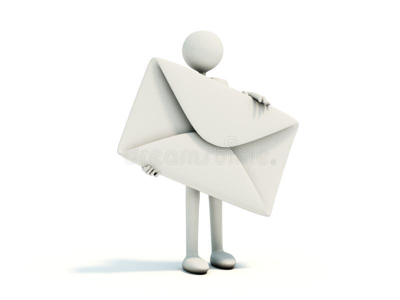 Uomo con la busta illustrazione vettoriale