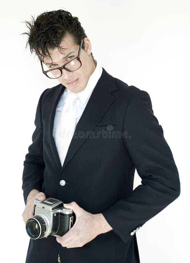 Uomo con la macchina fotografica immagini stock libere da diritti