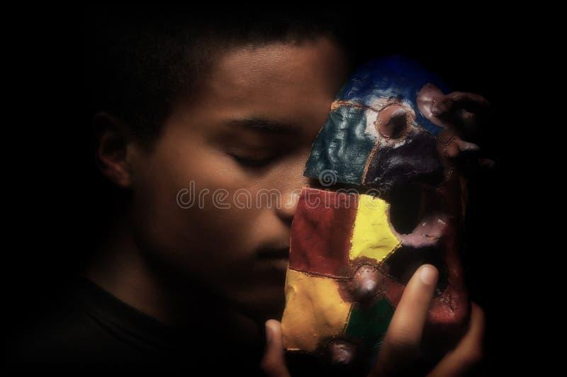 Uomo con la maschera immagini stock libere da diritti