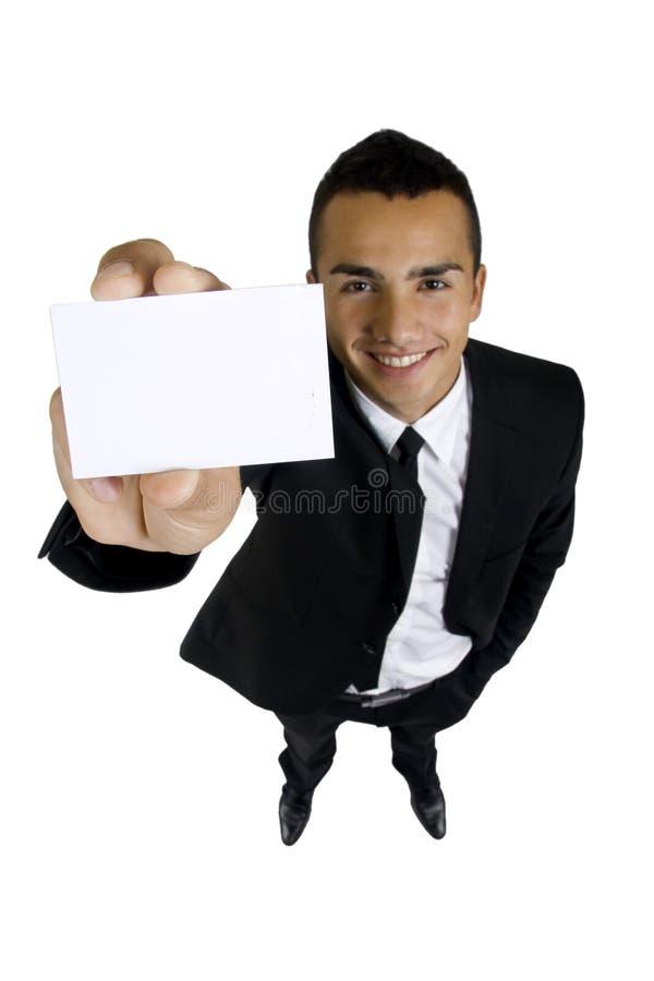 Uomo con la scheda immagini stock libere da diritti