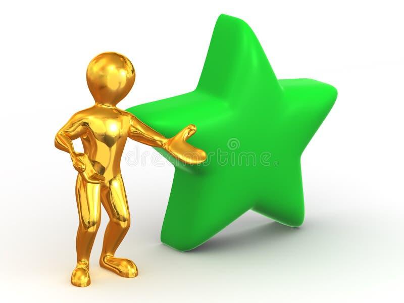Uomo con la stella. Favoriti illustrazione vettoriale