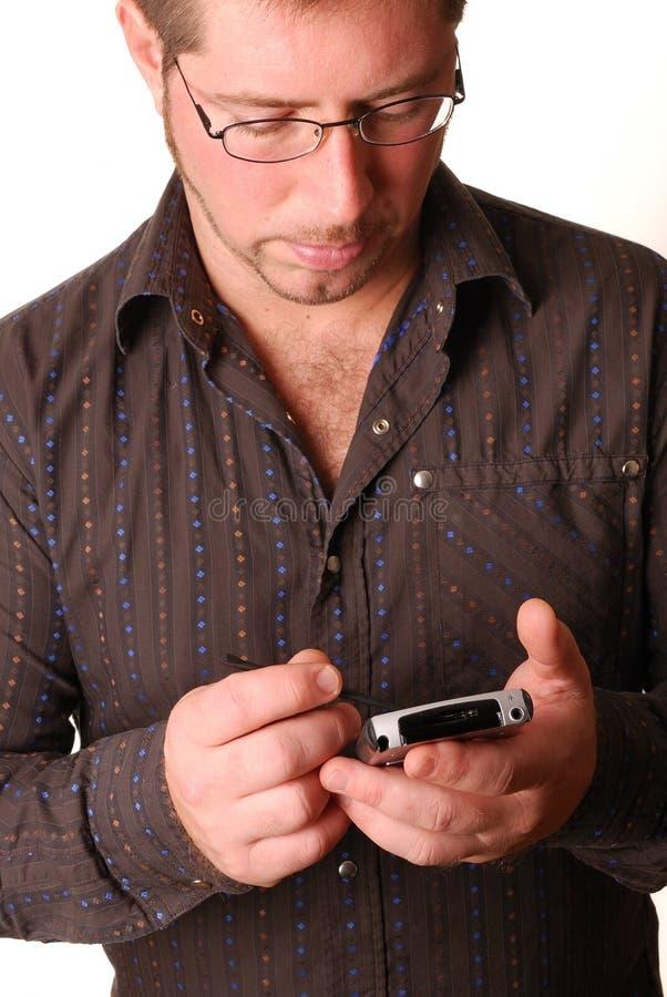 Uomo con PDA fotografie stock libere da diritti