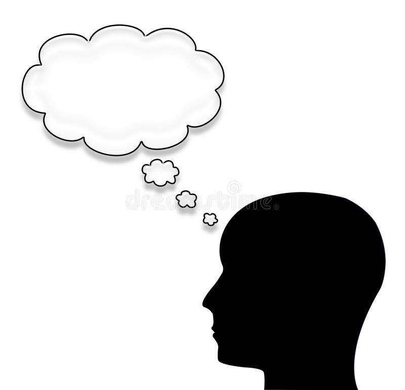 Uomo con una bolla isolata su bianco illustrazione di stock