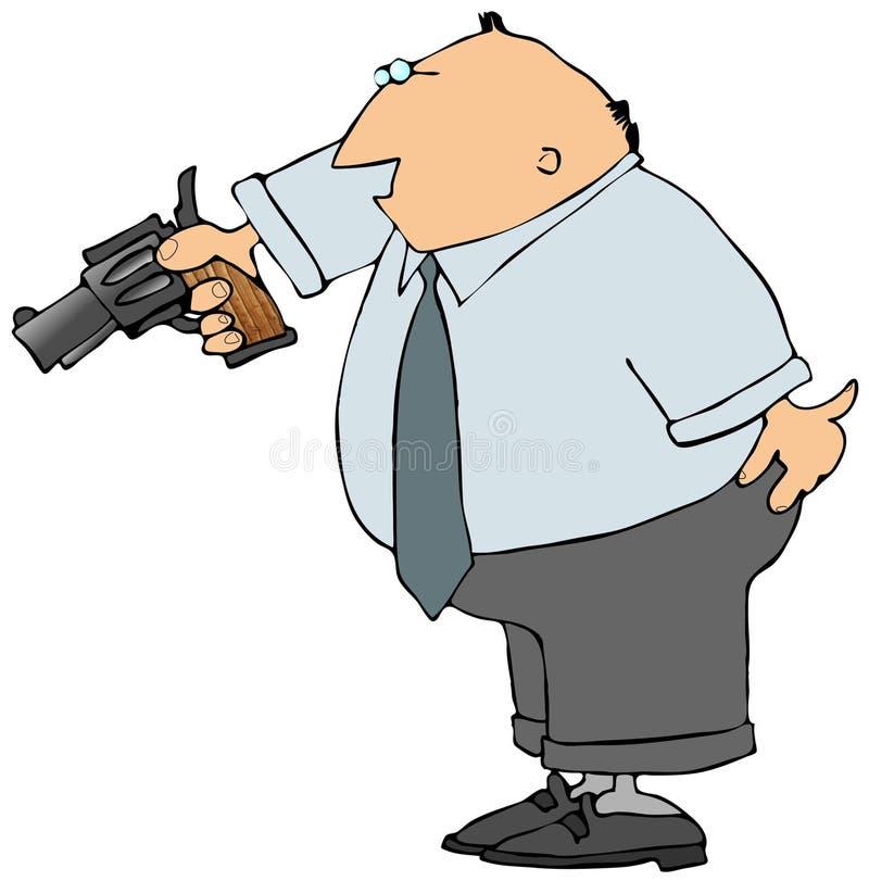 Download Uomo con una pistola illustrazione di stock. Illustrazione di revolver - 3891346