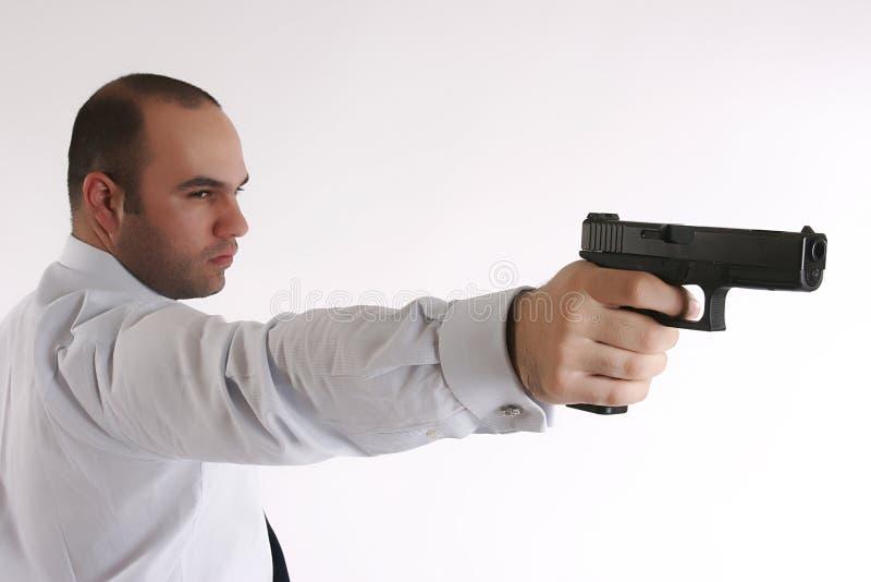 Uomo Con Una Pistola Immagini Stock Gratis
