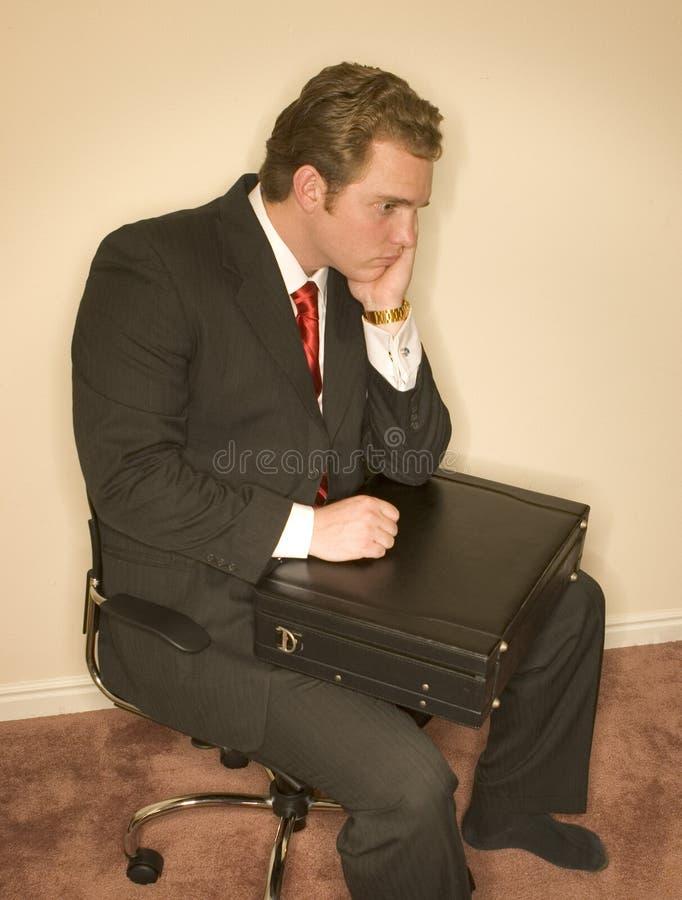 Uomo confuso 2 di affari fotografie stock
