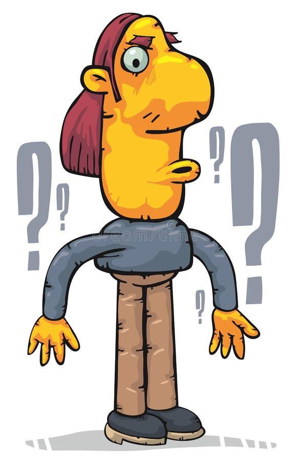 Uomo confuso illustrazione di stock