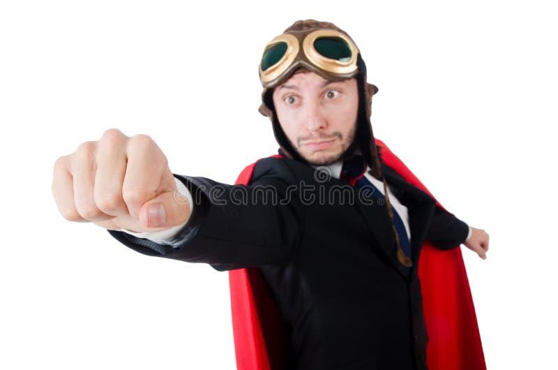 Uomo in copertura rossa immagini stock