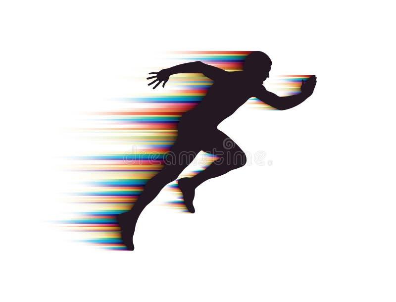 Uomo corrente illustrazione vettoriale