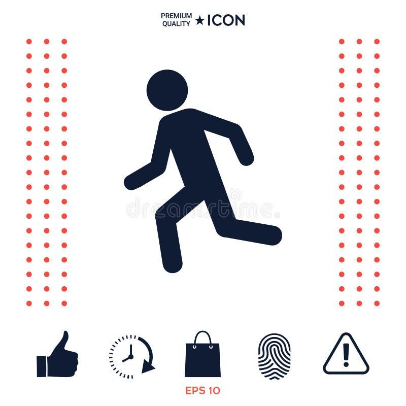 Download Uomo Corrente, Icona Di Funzionamento Illustrazione Vettoriale - Illustrazione di people, umano: 117976664